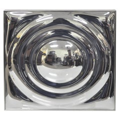 Turner Op Art Saturn Ring Space Age Square Wall Mirror Mid-Century Modern