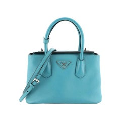 Turnlock Cuir Twin Tote Saffiano Leather Mini