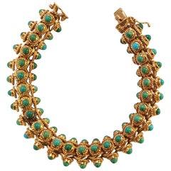 Turquoise 18 Karat Gold Bracelet
