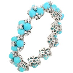 Turquoise and Diamond Bracelet