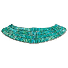 Turquoise and Sterling Silver Choker Necklace