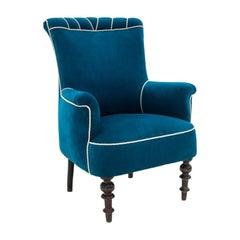 Turquoise Armchair Art Nouveau Style, 1950s