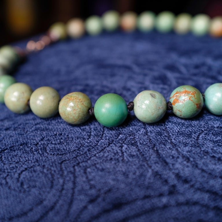 Turquoise Bead Necklace, circa 1900 For Sale 5