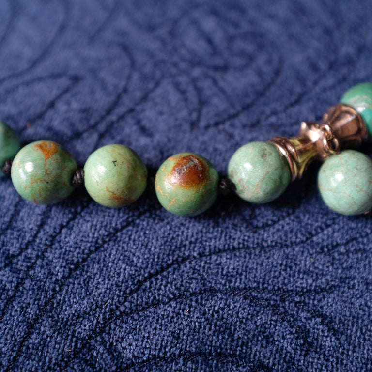Turquoise Bead Necklace, circa 1900 For Sale 7
