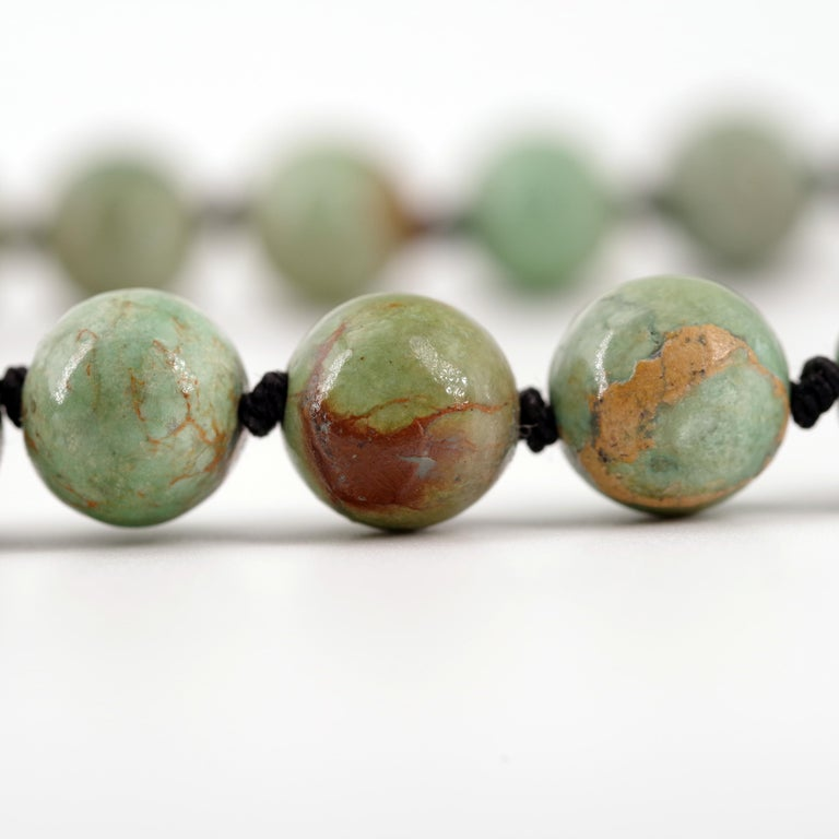 Turquoise Bead Necklace, circa 1900 For Sale 1
