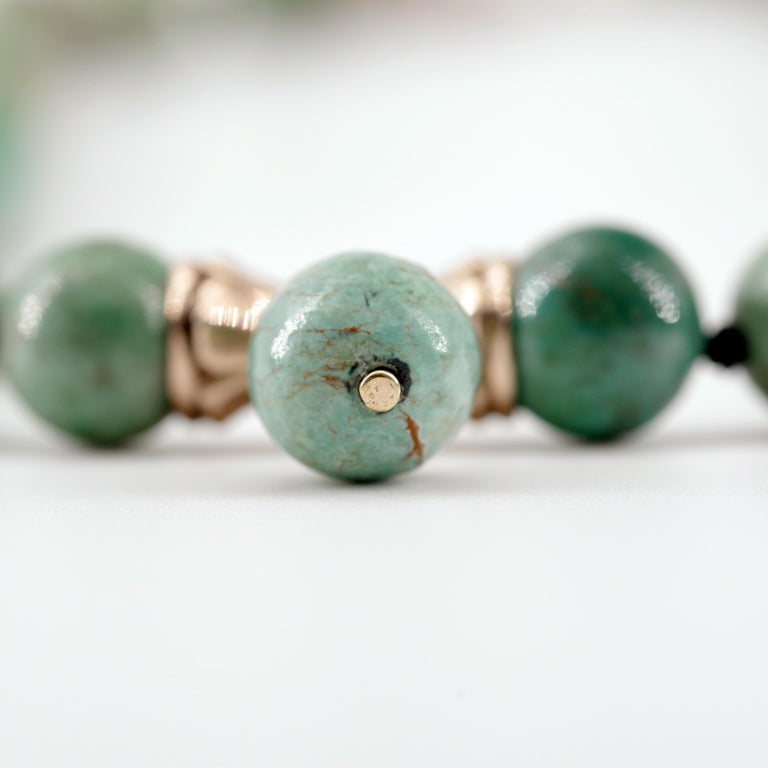 Turquoise Bead Necklace, circa 1900 For Sale 2