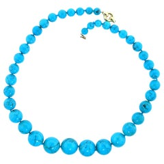Turquoise Beads Gold Necklace
