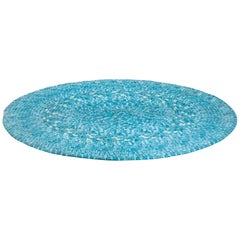 Turquoise Blue Rug in Cotton by Katie Stout