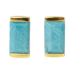 Turquoise Bonbon Stud Earrings