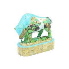 Turquoise Buffalo Sculpture