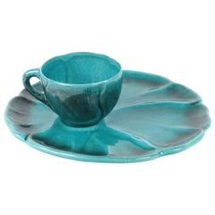 Turquoise Ceramic Luncheon Set for 12