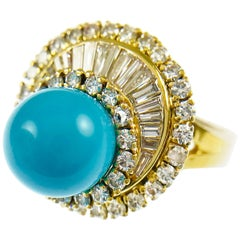 Turquoise Diamond Cocktail Ring
