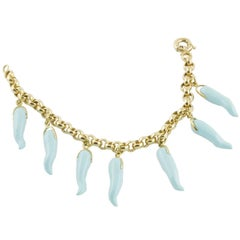 Turquoise Paste Gold Chilly Bracelet