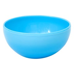Turquoise Hand Blown Glass Bowl by Kosta Boda, Sweden