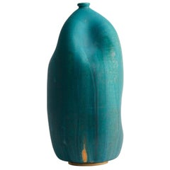 Turquoise Handmade Contemporary Ceramic Vase / Interior Sculpture / Wabi Sabi