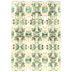 Turquoise Modern Eskayel Dynasty Rug