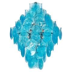 Turquoise Murano Glass Pendant Chandelier