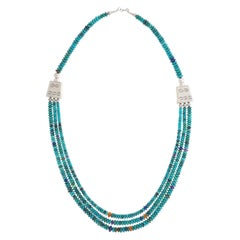 Turquoise Necklace by Roie Jacque, Navajo