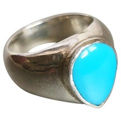 Turquoise on Silver Ring