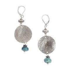 Turquoise Silver Pantai Earrings