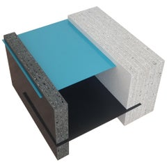 Turquoise Square Marfa Coffee Table - 100% recycled Plastic Table