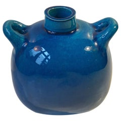 Turquoise Stoneware Vase by Nils A. Kähler for Kähler, 1970s