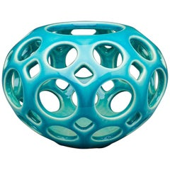 Turquoise Tabletop Candleholder