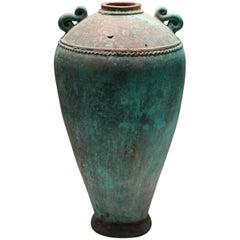 Turquoise Terracotta Vase