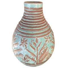Turquoise Vase, Jean Besnard, 1930