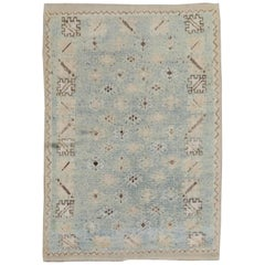 Turquoise Vintage Moroccan Rug