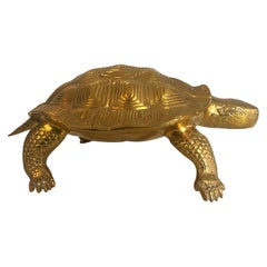 Turtle Brass Sculpture, French, Circa 1970