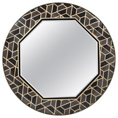 Turtle Mirror with Marble and Solid Wood