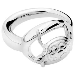 Silver Turtle Ring, sizes 55, 60, 65