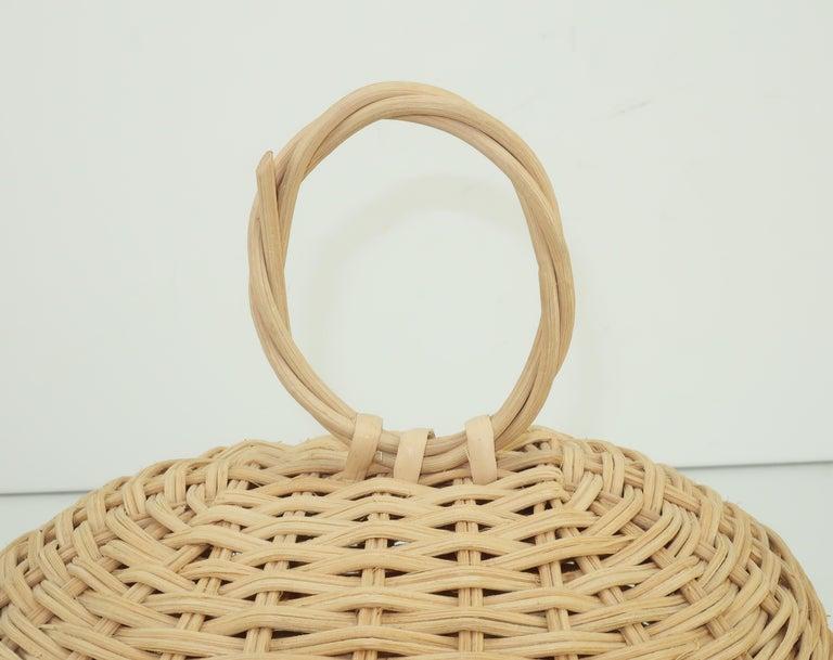 Turtle Wicker Basket Novelty Handbag, 1960's For Sale 2