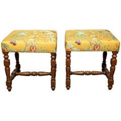 Tuscan Benches in Scalamandre Fabric
