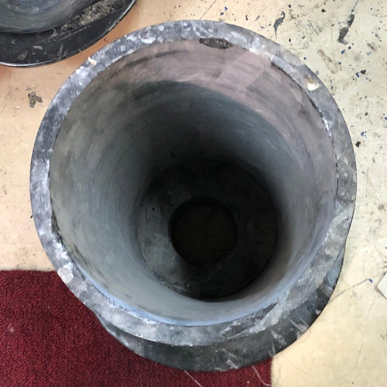Tuscan Marble 3-Tier Fountain Outdoor or Indoor In Fair Condition For Sale In Stamford, CT
