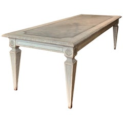 Tuscan Mid-19th Century Painting Neoclassical Dining Table