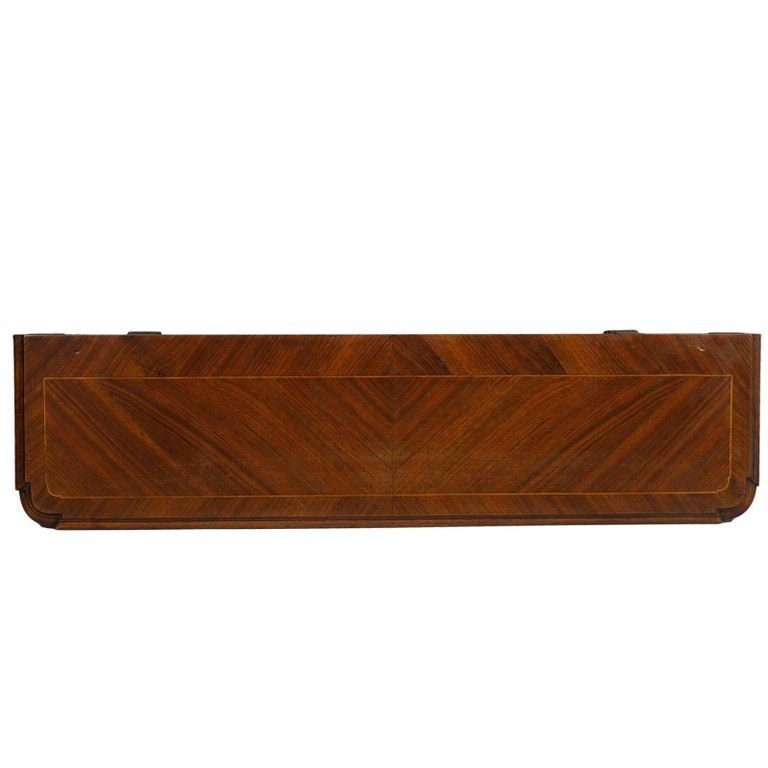 Neoclassical Tuscany Antique Carved Walnut Inlaid Entry Palladian Bench Bonciani Cascina For Sale