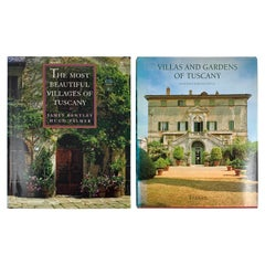 Tuscany, Italy, Villages, Villas, and Gardens, Photography & Culture Books Set/2