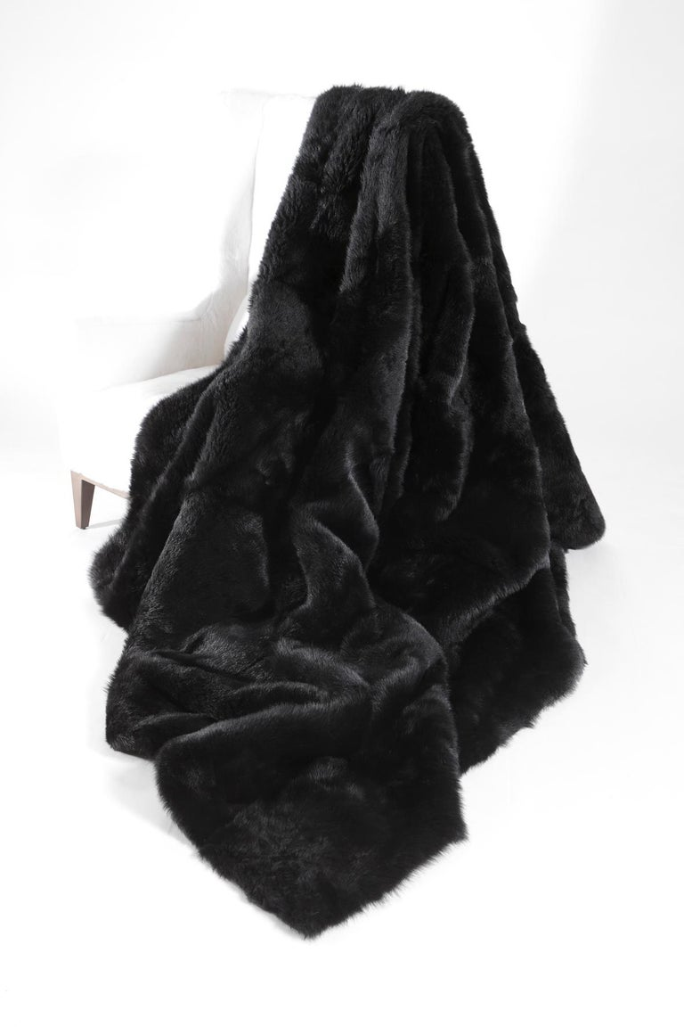 Fur throw