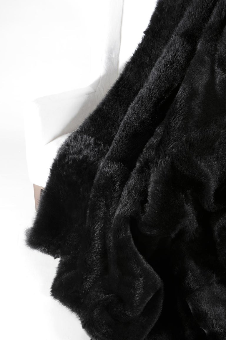 Hand-Crafted Tuscany Lambskin Fur Throw For Sale