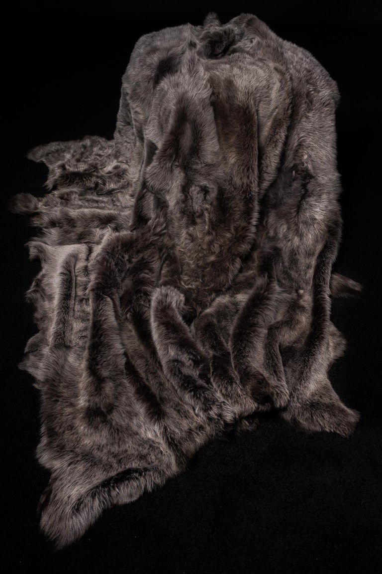Tuscany Lambskin Fur Throw For Sale 3