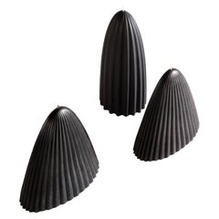 Tusk Candle, Set of Two, Black Beeswax