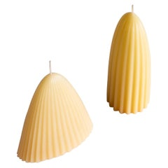 Tusk Candle, Set of Two, Natural Beeswax