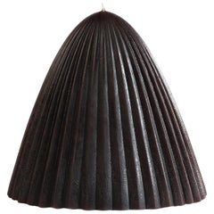 Tusk Candle, Small, Black Beeswax