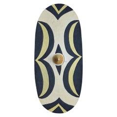 Tutsi Ceremonial Dance Shield from Wood and Paint Pigment, Rwanda, 1930s