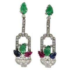 Tutti Frutti Diamond Drop Earrings