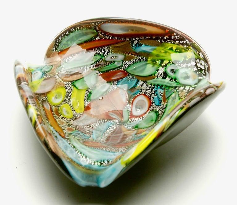 Mid-Century Modern Tutti Frutti Murano Art Glass Bowl by Dino Martens, 1960s For Sale