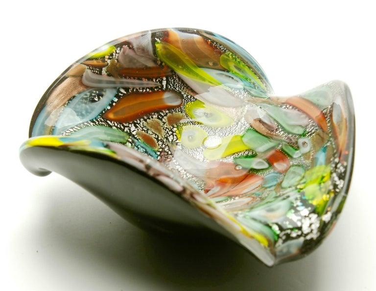 Italian Tutti Frutti Murano Art Glass Bowl by Dino Martens, 1960s For Sale