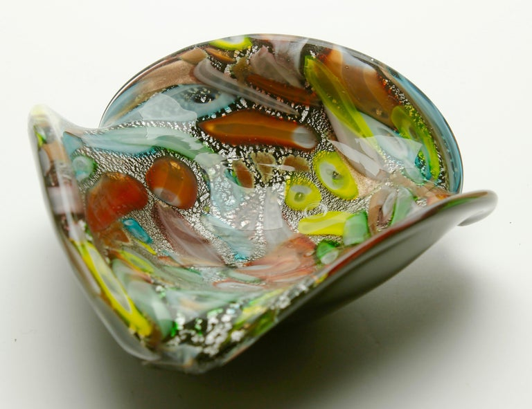Hand-Crafted Tutti Frutti Murano Art Glass Bowl by Dino Martens, 1960s For Sale